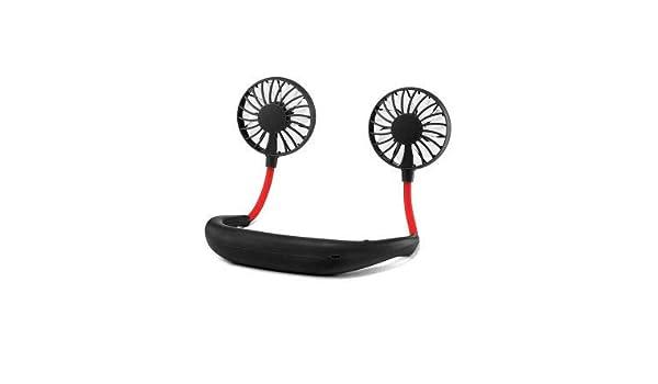 Mini Fan Hands-Free Neckband Fan Neckband Cooling Fan Headphone Fans Portable Neckband Fan with USB Rechargeable for Traveling Outdoor Office Sports Fans ...