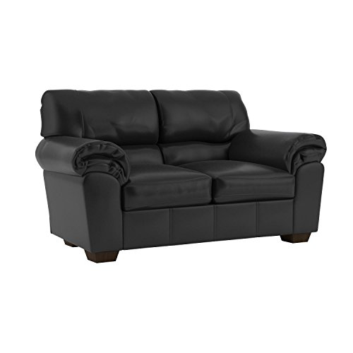 Ashley Furniture Signature Design - Commando Contemporary Faux Leather Loveseat - Black