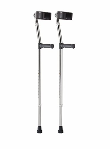 Medline MDS805161 Aluminum Forearm Crutches, Adult,  Pack of 2 ()
