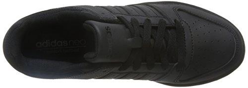 adidas Vs Hoopster W, Zapatillas de Deporte para Mujer Negro (Negbas / Negbas / Negbas)