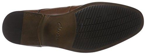 Clarks Banfield Walk - zapatos con cordones de cuero hombre Marrón (Tan Leather)