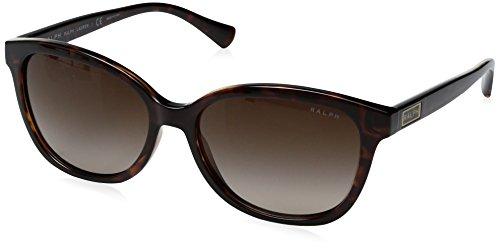 Brown Lauren Tortoise Ralph Frame - Ralph by Ralph Lauren Women's 0ra5222 Wayfarer Sunglasses, DARK TORTOISE, 56 mm