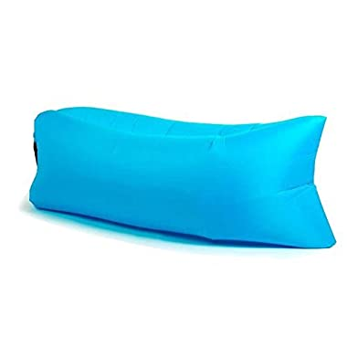 Outdoor Lazy Lounger,WOPOW® Fast Inflatable Air Bag Sofa Camping Bed Hangout Bean Bag Sleeping Lazy Lounger (blue)