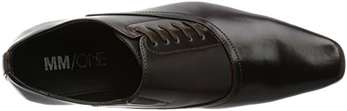 Mm / One Chaussures Oxford Chaussures Pour Hommes Plain Toe Side Lace Up Chaussures Marron Marron Foncé Marron Foncé Marron