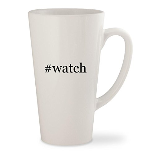 #watch - White Hashtag 17oz Ceramic Latte Mug - Michele Kors