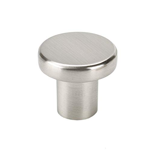 TOPEX HARDWARE Z20780280067 TOPEX HARDWARE Z20780280067 Flat Circular Knob, 28mm, Stainless Steel, 28mm, Stainless Steel