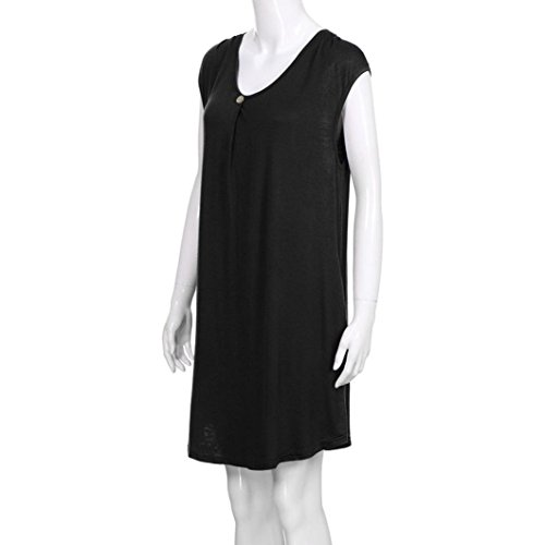 Amazon.com: Teresamoon Womens Sleeveless Casual Swing Dresses V Neck T Shirt Dress with Pockets: Clothing