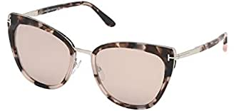 Tom Ford Gafas de Sol Simona FT 0717 Pink Havana/Brown ...
