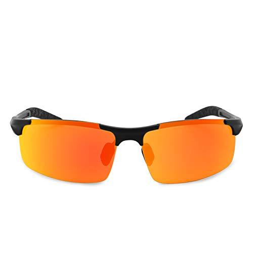 UV Al Gafas Pesca Rojo El Deportivas Protección Polarizadas para Hombre AMZTM Gafas Sol para Ultraligero Mg Negro de Ciclismo ZdxERw4Rq