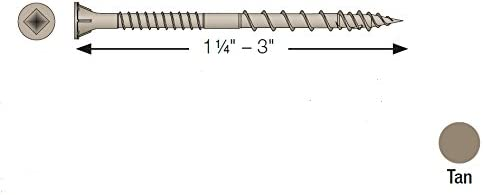HCKDSVT2S Quik Drive DSV Collated Exterior Wood Screws (Box of 750pcs)