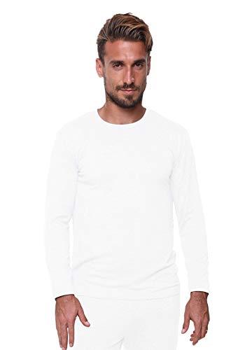 Men's Thermal Top Lightweight Ultra Soft Fleece,Base Layer, XL-White