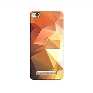 Cover It Up - Brown Gold Pixel Triangles Xiaomi Redmi 4A Hard Case