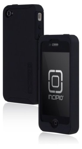 Incipio iPhone 4/4S SILICRYLIC Hard Shell Case with Silicone Core - 1 Pack - Carrying Case - Black/Black