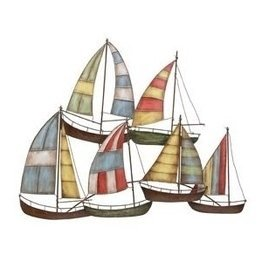 Boat Metal Sculpture (Deco 79 Metal Sailing Boat Decor a Perfect Nautical Decor)