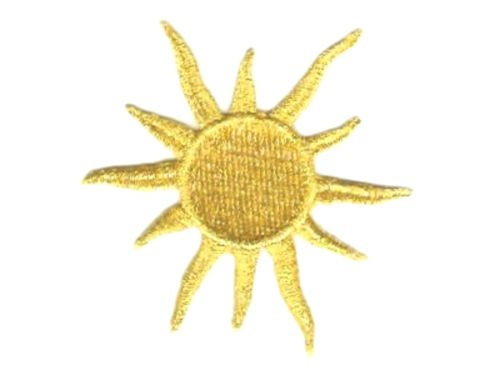 3'', Celestial Metallic Gold Sun embroidery patch by I.E.Y.online-store