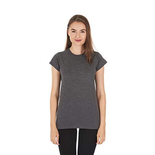 Minus33 Merino Wool Women's Appalachia Lightweight Short Sleeve Crew, Charcoal Grey, Small