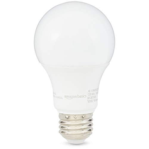 AmazonBasics 40 Watt 10,000 Hours Dimmable 450 Lumens LED Light Bulb - Pack of 6, Soft White