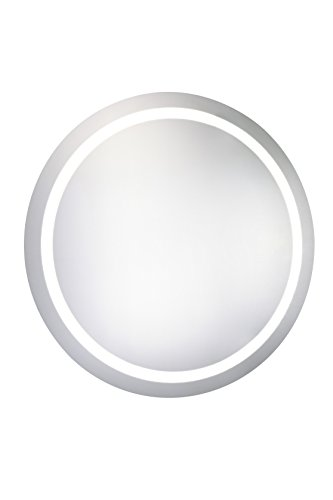 Decor Central ADEMIR-18015 with with Round Steel Frame LED Hardwired Mirror, 30