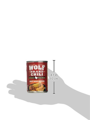 Wolf Brand Chili Texas Recipe Hot Dog Sauce (Pack of 3) 10 oz Cans
