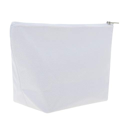 Aspire 30-Pack White Cotton Canvas Zipper Bags for DIY Project 9.5