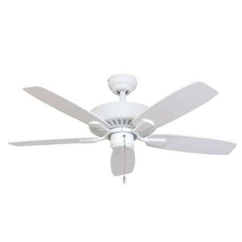 (Calcutta 50115 52-Inch Villager White Ceiling Fan, White and Maple Fan Blades)