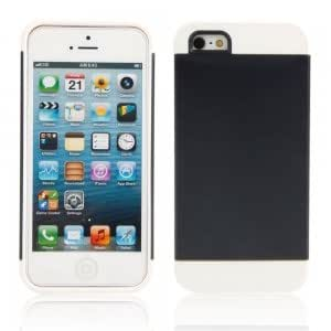 2-in-1 Protective TPU + PC Case for iPhone 5/5S White + Black