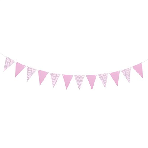 2M Kids Birthday Banners Bunting Ripple Stripe Pennant Flag Baby Room Garland Decorations For Baby