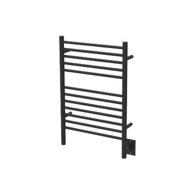 QBC Bundled Amba Heated Towel Warmers - Jeeves - ESMB Model E Straight - Matte Black Finish 20.5 in W x 31 in H - 150 to 175 Watts 1.35 to 1.6 Amps - Plus Free QBC Towel Warmer Guide