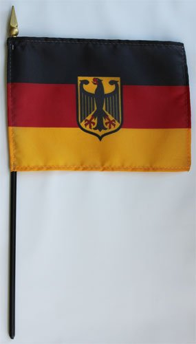 Germany (Eagle) - 4 in x 6 in World Stick Flag