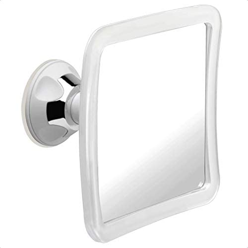 Fogless Shower Mirror with Protective Silicone Sheath for Shaving and Make-up,New Nano Fogless Technology That Real Works Multi-Colors Option red