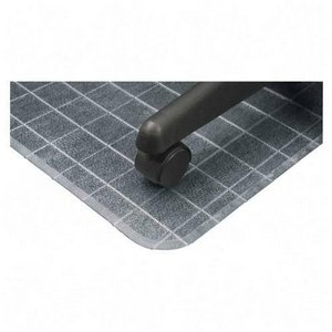 Supermat Checkered Mat (Deflect-o Checkered Mat with Lip, 45 by 53-Inch, Clear)