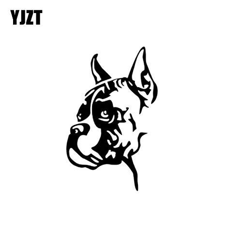 YJZT 9.6CM*15CM Bulldog Dog Cute Animal Vinyl Car Sticker Decals Black/Silver C10-00444 Decals & Bumper Stickers Color Name: Silver