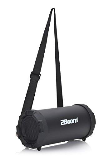 2BOOM Mini Bass King Wireless Bluetooth Portable Outdoor Speaker with FM Radio LED Display - Black