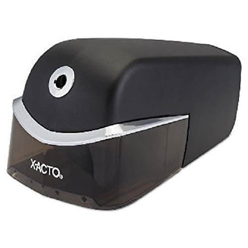 X-ACTO 1750 Quiet Electric Pencil Sharpener, Black/Silver