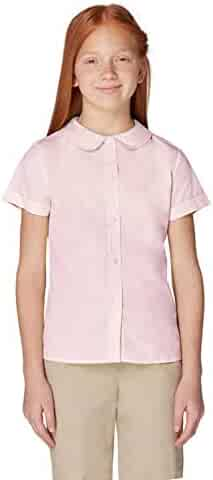 French Toast Girls' Short Sleeve Peter Pan Collar Blouse