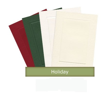 Holiday Collection - 4x6 Photo Insert Note Cards - 24 Pack by Plymouth Cards (Insert Green)