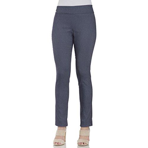 IZOD Women's Slim Fit Pull on Crop Pant (10, Herringbone)
