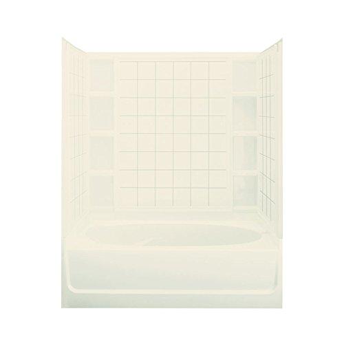 STERLING 71100119-96 Ensemble AFD Bath Tub and Shower Kit, 60-Inch x 36-Inch x 74.25-Inch, - Afd Bathtub