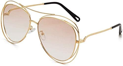 Unisex super leicht polarisierte Sonnenbrille, Männer und Frauen Fahren Halbrand Feld polarisierte Sonnenbrillen Blocking 100% UV (Farbe: Gold, Größe: Beiläufig Größe)
