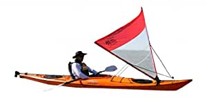 PAS-10RC PACIFIC ACTION SAIL- 1 sqm, red/clear(kayak not included)