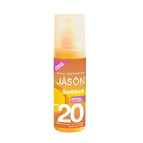 - Jason Natural Facial Sunscreen, Broad Spectrum SPF 20, 4.5 Ounce (Pack of 2)