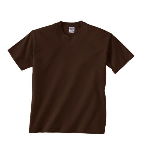 Gildan boys Ultra Cotton T-Shirt(G200B)-DARK CHOCOLATE-XS - Big Kids Brown Apparel Chocolate