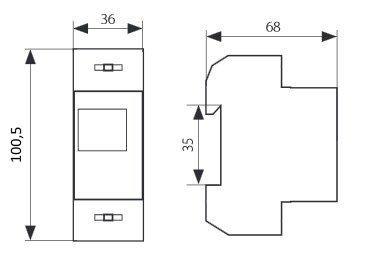 1-phasig Drehstromz/ähler Energie-Stromz/ähler Hutschiene Strommessung