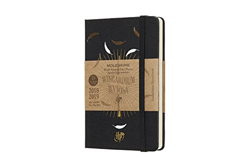Moleskine 2018-2019 18M Limited Edition Harry Potter Weekly Notebook, Pocket, Weekly Notebook, Black, Hard Cover (3.5 x 5.5)