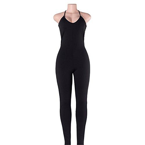 Doris Batchelor Trendy V-Neck Rompers Womens Jumpsuit for Women 6 Colors Jumpsuit Black Jumpsuit M