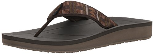 Teva Men's Premier Flip-Flop, Beach Break Brown, 12 M US