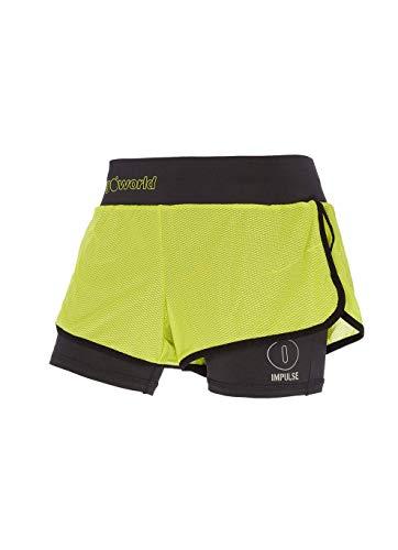 Verde Pantalone Filia Nero lime Donna Corto TRANGOWORLD wRTAqIcpI