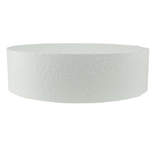 Oasis Supply 747068 Dummy Round Cake, 18'' x 4'', White