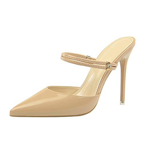 Drew Toby Women Pumps Sexy Patent Leather Pointed Toe Fashion Elegant Banquet High Heels