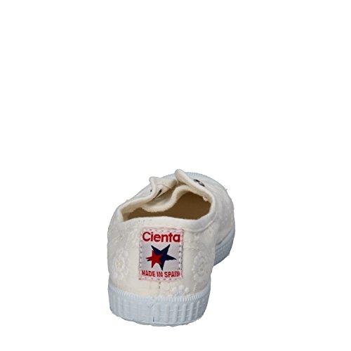CIENTA Sneakers Niñas Textil Perfumado (21 EU, Blanco)
